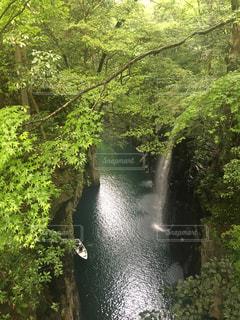 小雨の降る高千穂峡。の写真・画像素材[1196570]