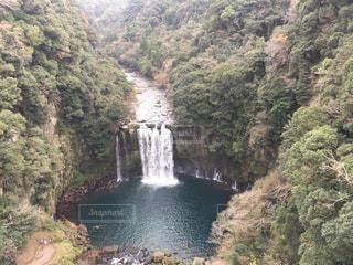 神川大滝公園吊り橋からの絶景の写真・画像素材[1689286]