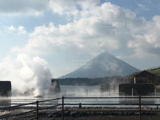 塩田跡からの開聞岳の写真・画像素材[1689311]