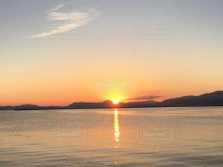 海,空,太陽,朝日,光,日の出,船上,青函フェリー