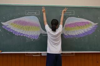 黒板,教室,チョーク,中学生,黒板アート