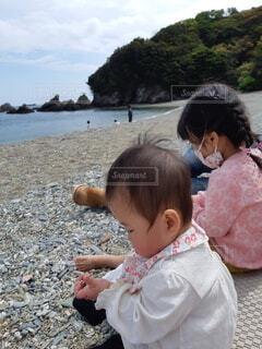 海岸でピクニックの写真・画像素材[4464647]