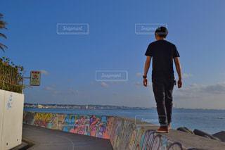 風景,ビーチ,後ろ姿,沖縄,アメリカンヴィレッジ,うしろすがた,海辺デート