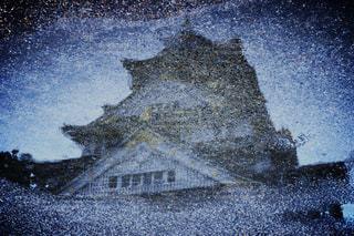 雨,大阪,道路,曇り,城,反射,日本,大阪城,梅雨