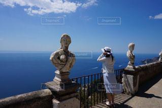 海,空,夏,テラス,世界遺産,景色,旅行,ブルー,イタリア,海外旅行,南イタリア,アマルフィ海岸,ラヴェッロ,ラベッロ,Ravello,天空の町