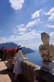 海,空,世界遺産,景色,旅行,ブルー,イタリア,リゾート,海外旅行,パノラマ,アマルフィ海岸,ラヴェッロ,ラベッロ,Ravello,天空の町,天空のテラス