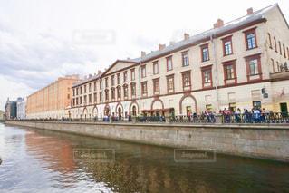 風景,建物,街並み,晴天,茶色,水路,景色,ベージュ,運河,ロシア,色・表現,ミルクティー色