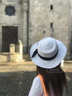 女性,風景,建物,後ろ姿,帽子,後姿,キューバ,後姿フォト