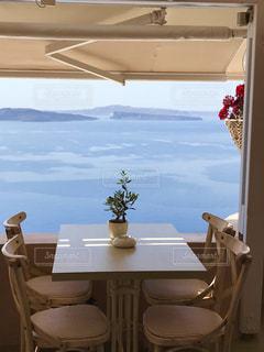 海の見えるカフェの写真・画像素材[2252181]