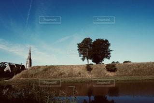 自然,風景,空,木,屋外,植物,景色,丘,教会,ナチュラル,フィルム,雰囲気,運河,フィルム写真,フィルムフォト