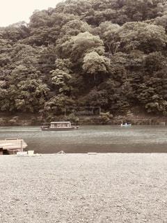 風景,屋外,京都,船,川,嵐山,フィルム,雰囲気,フィルム写真,フィルムフォト
