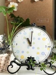 水玉模様の時計の写真・画像素材[2482073]