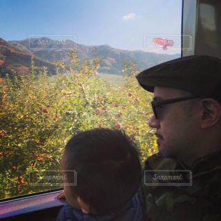男性,家族,男,鉄道,時間,父と子,電車旅,色・表現