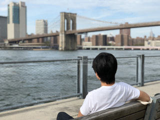 男性,橋,屋外,人,NY,フォトジェニック