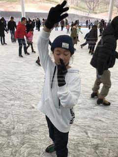 子供,楽しい,寒い,遊び,スケート,選手,ものまね,羽生
