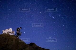 夜空,星空,オリオン座,友達,一眼レフ