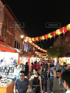 夜,提灯,旅行,シンガポール,繁華街,海外旅行