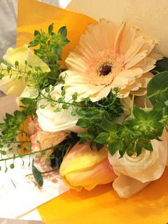 花,花束,綺麗,黄色,オレンジ