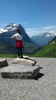 絶景,山,感動,氷河,Graysher NationalPark