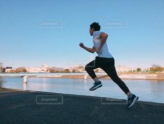 男性,スポーツ,男,川沿い,早朝,run