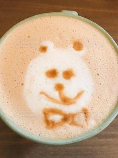 飲み物,カフェ,屋内,癒し,マグカップ,ラテ,ミルクティー,クマ,ミルクティーいろ