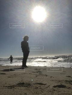 海,空,冬,太陽,アメリカ,旅行,リゾート,日中,マンハッタンビーチ