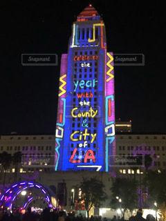 アメリカ,タワー,美しい,イルミネーション,旅行,イベント,LA,ロサンゼルス,新年,カリフォルニア