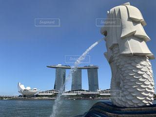 風景,水,アジア,マーライオン,シンガポール
