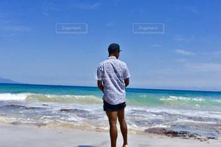 風景,海,青,景色,男,鮮やか
