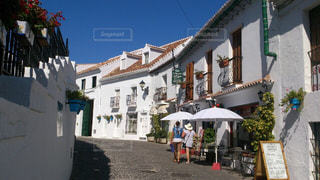夏,屋外,旅行,スペイン,快晴,海外旅行,ミハス,白い村,白い建物