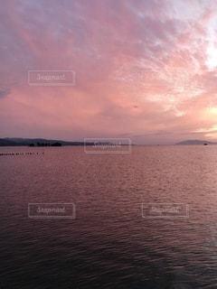 宍道湖の夕焼けの写真・画像素材[3421928]