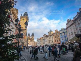風景,建物,カラフル,街,観光,プラハ,チェコ,海外旅行