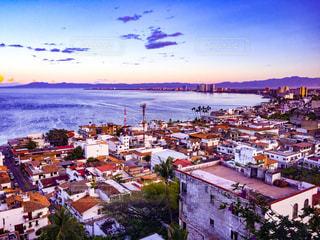 風景,ビーチ,旅行,海外旅行,メキシコ,夕焼,プエルトバジャルタ