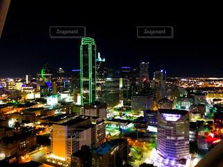 夜景,アメリカ,街,海外旅行,ダラス,街風景