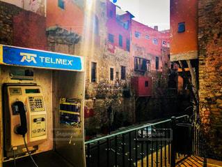 街,街並,地下道,海外旅行,通り,メキシコ,公衆電話,グアナファト