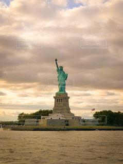 ニューヨーク,アメリカ,観光,自由の女神,海外旅行,夕焼