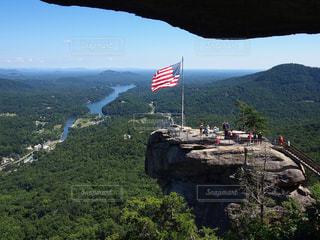 絶景,海外,晴天,アメリカ,山,岩,旅行,海外旅行,アドベンチャー,ノースカロライナ