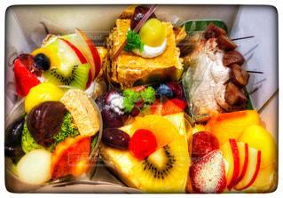 ケーキ,フルーツ,新鮮,色,イチゴ