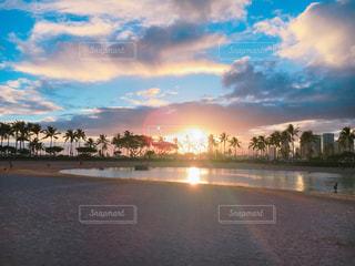 風景,海,空,ビーチ,砂浜,海岸,アメリカ,観光,旅行,ハワイ,海外旅行