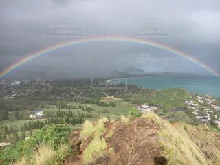 風景,海,空,ビーチ,虹,海岸,アメリカ,観光,旅行,ハワイ,海外旅行,インスタ映え