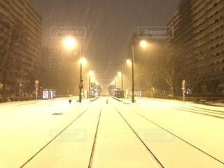 雪に覆われた都市の写真・画像素材[1732166]