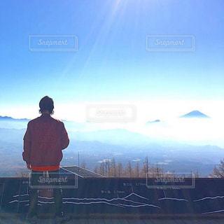 男性,富士山,絶景,景色,男