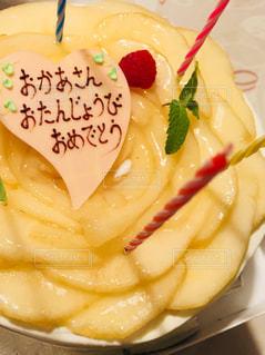 食べ物,ケーキ,デザート,フルーツ,誕生日,洋梨,ロウソク