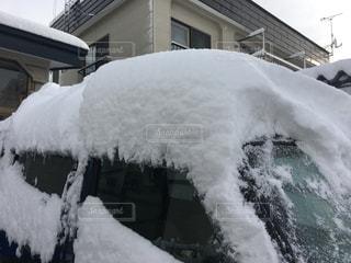 車に積もった雪の写真・画像素材[891476]