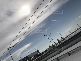 飛行機雲の写真・画像素材[1862697]