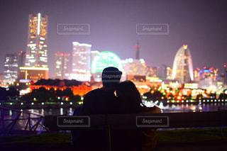 夜のライトアップ・シティの写真・画像素材[2183491]
