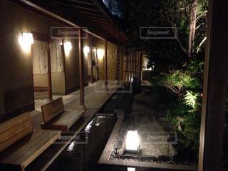 温泉旅館の足湯の写真・画像素材[1750434]