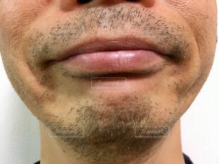 男性口元アップの写真・画像素材[2156380]