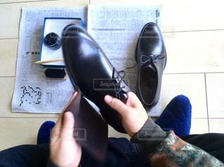 靴をみがく1の写真・画像素材[2894981]