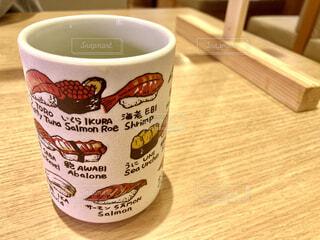 寿司屋の湯呑み茶碗の写真・画像素材[4429428]